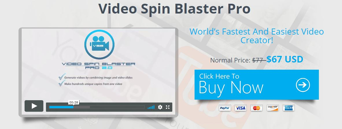 Video Spin Blaster Pro Discount